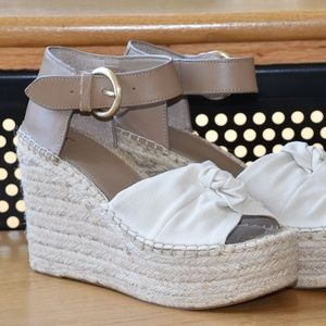 NEW Marc Fisher LTD ANTY Wedge Espadrilles Sz 8M
